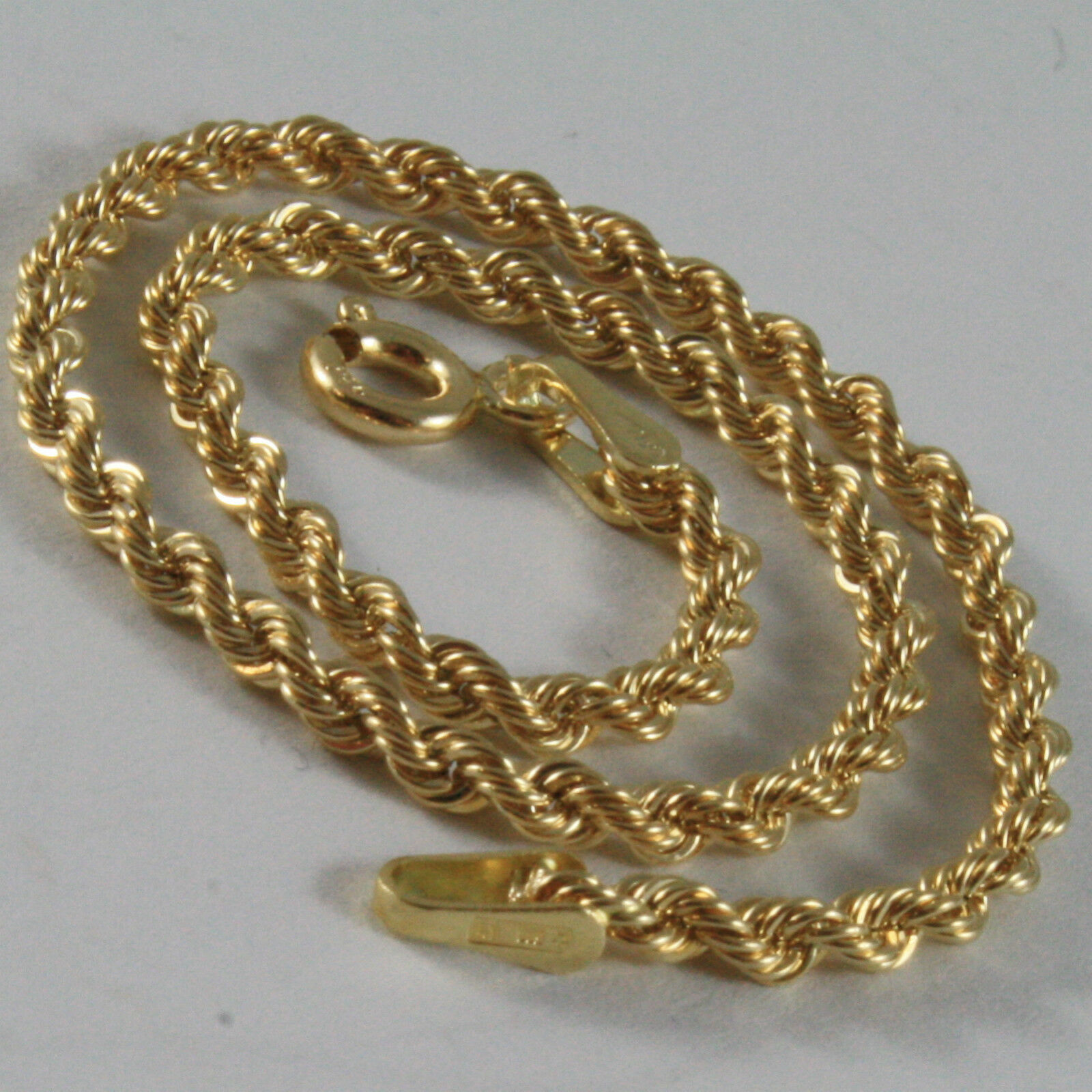 18K YELLOW GOLD BRACELET, BRAID ROPE MESH, 7.30 INCH LONG, MADE IN ITALY image 2