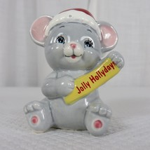 Vintage 80s Russ Berrie Christmas Jolly Holidays Santa Mouse Figurine - $29.66