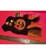 SimplyDog Pet Clothes Medium Halloween Dog Dress Black Orange Pumpkin Ou... - $7.59