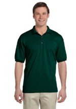 Gildan Dry Blend 50/50 Jersey Knit S/S Polo Shirt 5XL  Hunter green - $11.29