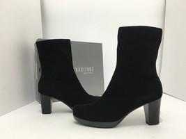 La Canadienne Kate Mujer Corto Botas Impermeables Tacones ante Negro Siz... - $147.85