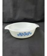 Anchor Hocking Cornflower Blue Casserole #436 1 Quart, Microwave Safe - $9.99