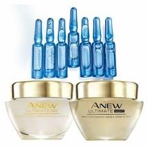 Avon Anew Ultimate Day & Night Cream & Skin Reset Plumping Shots - NEW &... - $29.41