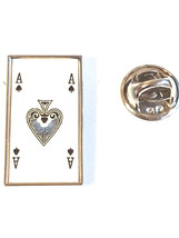 ace of spades pin playing cards design small Lapel Pin Badge / tie pin