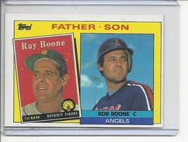 (B-1) 1985 Topps #133: Boone - Father / Son series - $1.00