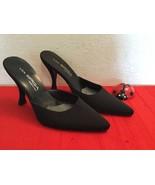 VERO CUOIO Via Spiga Women's Heels  Black  Fabric Size 7 M EUR 37 - $50.00