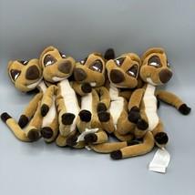 """Lot Of 5 The Disney Store The Lion King Meerkat 8"""" Timon Mini Bean Bag P... - $19.80"""