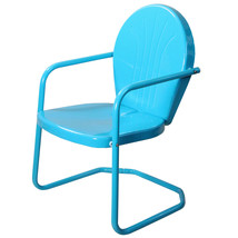 LB International Retro Style 34 Inch Outdoor Metal Tulip Chair, Turquois... - $73.00