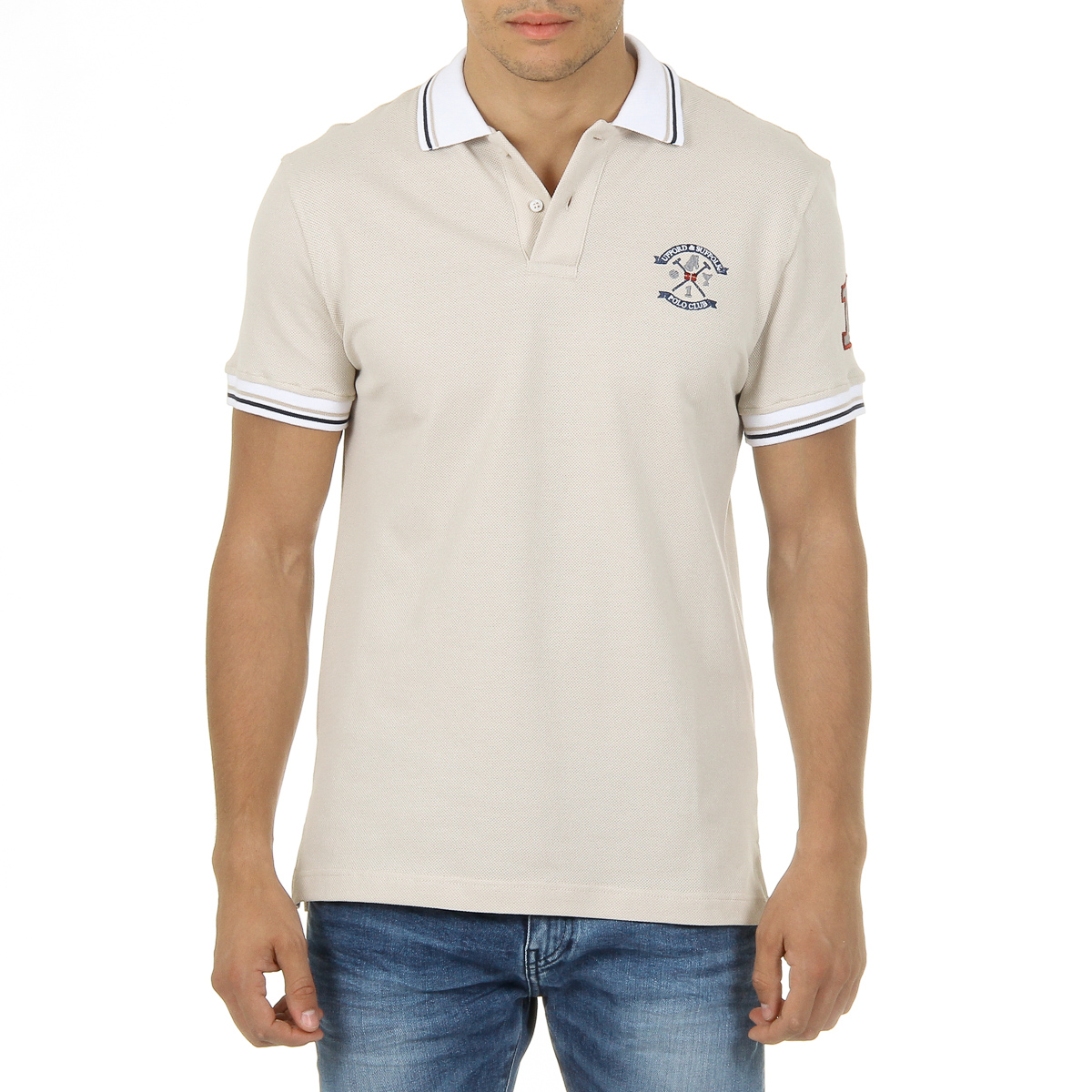 Primary image for Ufford & Suffolk Polo Club Mens Polo Short Sleeves Beige FURIA