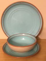Rare Vintage Noritake Stoneware  Boulder Ridge 8674 Dinner & Salad Plate... - $59.40
