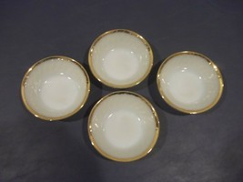 "Lot Of 4 Vintage Fire King Swirl Golden Anniversary Pattern 4 /8"" Desert... - $8.90"