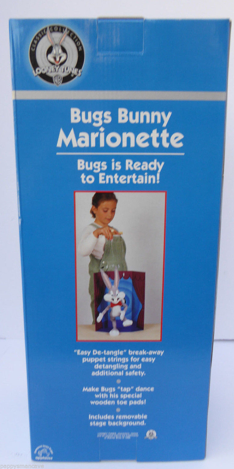 "WARNER BROTHERS LOONEY TUNES APPLAUSE BUGS BUNNY 18"" PLUSH MARIONETTE PUPPET  A5"