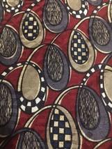 Oscar De La Renta Men's Neck Tie Red Multi-colored Loops Print - $4.98