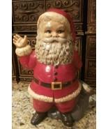 "Vintage Christmas ""Duncan Ceramics""~ 1973 Primitive Santa Candy Cane Hol... - $15.83"