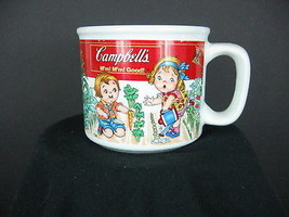 1993 Campbell Soup Kids Working in the Garden Mug Bowl Cup Multi-color W... - $15.70