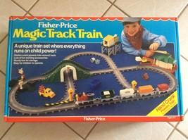 VINTAGE 1988 FISHER PRICE MAGIC TRACK TRAIN HAND CRANK NEW UNOPENED! - $88.11