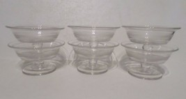 Lot of 6 Dessert Desert Cups Clear Glass Footed Pudding Parfait Ice Cream - $14.85