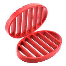 Round Roasting Rack, Nonstick Silicone Roasting Pan Rack - Red (pack Of 2) - $29.99