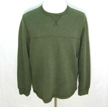 G.H. BASS Men's (Size Large) Solid Green Pullover Sweater Sweatshirt Fle... - $12.95
