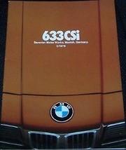 1978 633CSi BMW SALES BROCHURE - $44.99