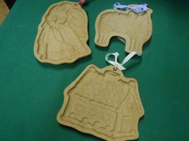 Great Set of 3 LONGABERGER Molds...Angel...Ginger Bread House....Sheep - $13.45