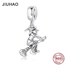 Hot fairy tale Magical witch with Broom charms fashion Pendants fit Orig... - $10.32