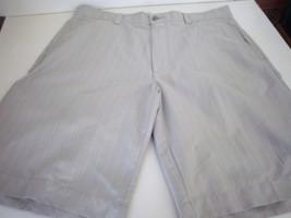 CALLAWAY - Men's Beige/White Pin Striped Shorts - SIZE 36 - $15.99