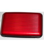 Men's Red Aluminum Pocket Credit Card Holder with Wallet RFID Scanner Bl... - $20.00