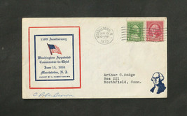 US 1933 Bicentenial Cover Morristown NJ Washington SIGNED C. Robert Brow... - $10.89