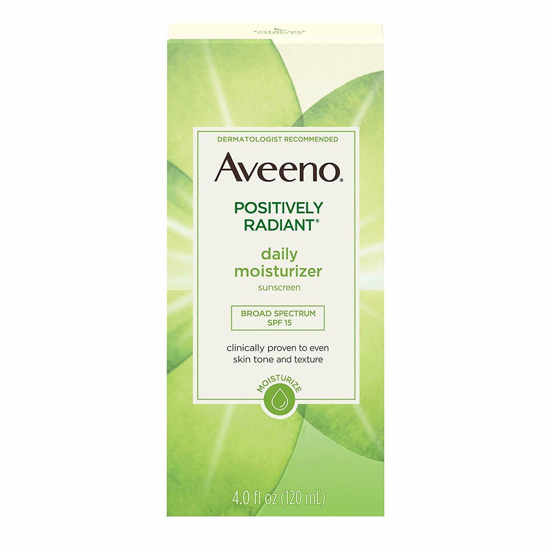 Aveeno Positively Radiant Skin Daily Moisturizer SPF 15 4oz