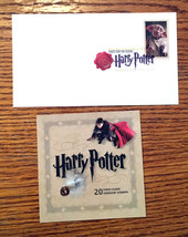 Harry Potter USPS Book - 20 Forever Stamps - Stamped DATE OF ISSUE Envel... - $32.92