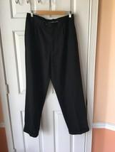 Mens Pants Perry Ellis 34x32 Black Cuffed - $7.92
