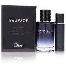 Christian Dior Sauvage Cologne 3.4 Oz Eau De Toilette Spray 2 Pcs Gift Set  image 5