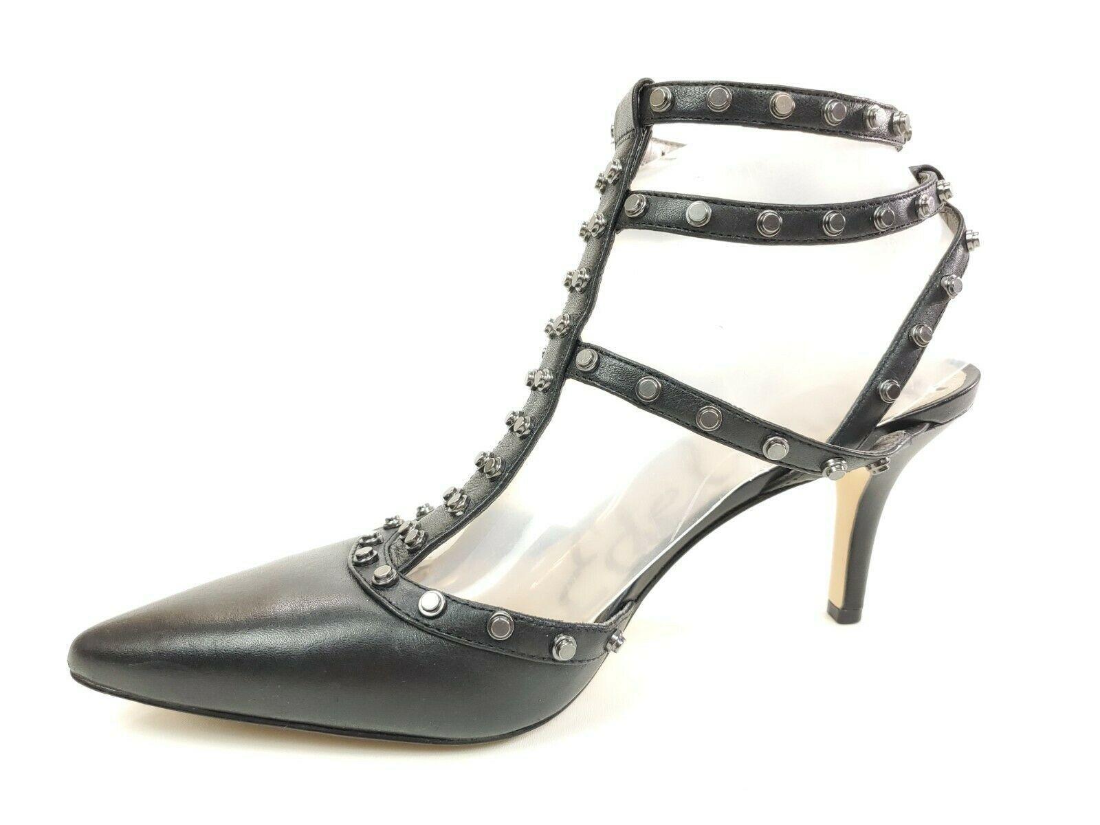 Sam Edelman Black Studded Rivet Detail Gladiator Strap Heels Pumps Size 8.5 - $49.95