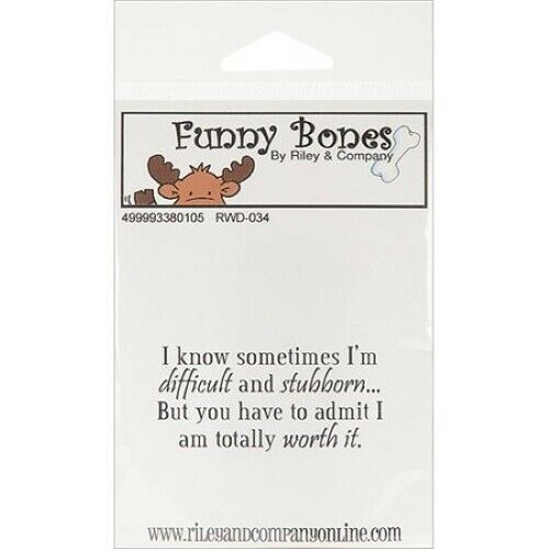 Riley & Company Funny Bones Rubber Cling Sentiment Stamp #RWD-034