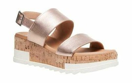 Women's Steve Madden Brenda Platform Sandal Rose Gold Leather - $124.12