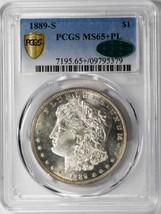 1889-S $1, PL Morgan Dollar PCGS MS65+PL CAC Approved - $9,000.00