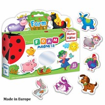 Fridge Magnets for Toddlers FARM Animals 31 pcs - Refrigerator Magnets f... - $15.75