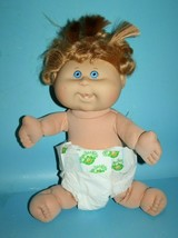 Cabbage Patch Doll Baby Giggles Sandy Blonde Curls Blue Eyes CPK Diaper Teeth 05 - $38.69