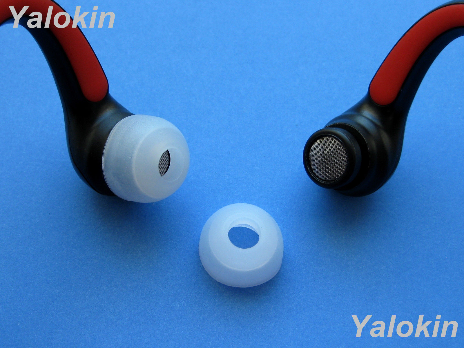 8 CL Large Replacement Eartips Adapters for Motorola S10-HD Bluetooth Headphones