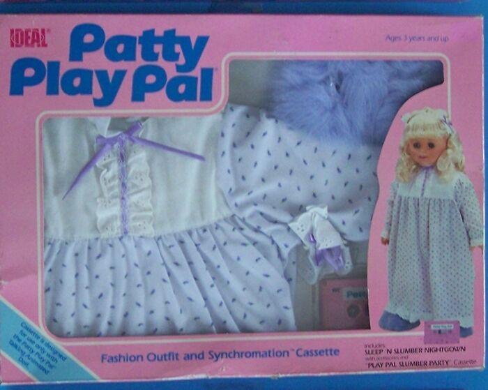 "Primary image for 1987 IDEAL TALKING  24"" PATTY PLAYPAL SLEEP N SLUMBER FASHION OUTFIT & CASS NRFB"