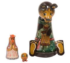 """Bear w/ Kolobok Nesting Doll - 5"""" w/ 3 Pieces - $54.00"""