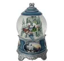 Thomas Kinkade Snow globe Jingle Bells Figurine snowglobe snowdome Christmas vtg - $69.25