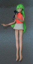 Vintage Ideal Flatsy Fashion Doll Green Hair Orange Top Beige Mini Skirt... - $28.71