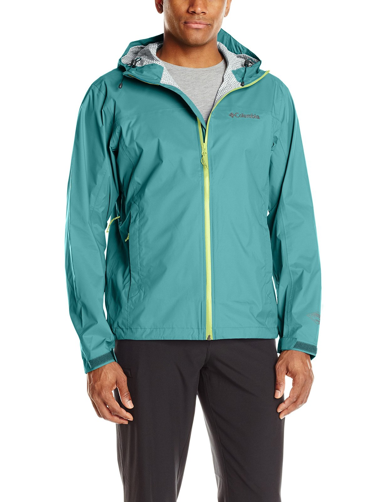 Columbia Men's Evapouration Jacket, Teal, Small