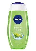 Nivea Bath Care Lemon And Oil Shower Gel, 250 ml, care oil pearls, lemon scent - $13.99+