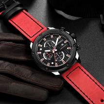 Curren Brand Chronograph Sport Men Watches Fashion Casual Leather Quartz Watch M - $46.88