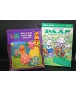 Vintage Lot 2 Easter Egg Dye Coloring Kits PAAS Disney Winnie The Pooh C... - $14.24