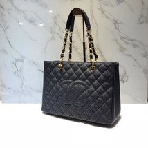 BRAND NEW AUTH CHANEL QUILTED CAVIAR GST GRAND SHOPPING TOTE BAG GHW RECEIPT image 2