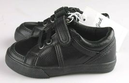 Cat & Jack Toddler Boys' Huxley Black Faux Leather Sneaker Shoes 6 US NWT image 3
